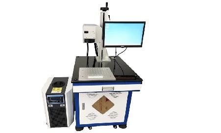 立华激光芯片打字印字IC芯片激光打标机